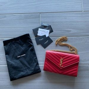 Yves Saint Laurent Wallet on a Chain